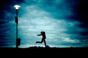 Girl and Lamp post